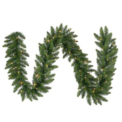 Vickerman Camdon Fir 50-Foot Garland in Green with Multicolor LED Lights
