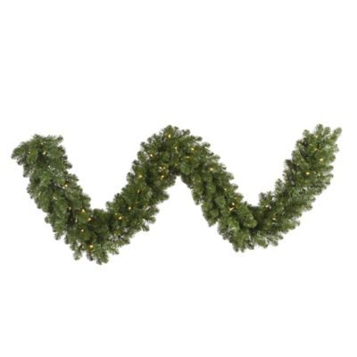 Vickerman 9-Foot Dura-Lit Pre-Lit Grand Teton Garland in Green with Clear Lights