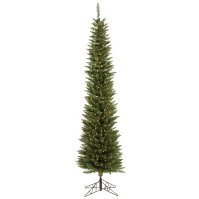 Vickerman 6.5-Foot Durham Pole Pine Dura-Lit Pre-Lit Christmas Tree with Clear Lights