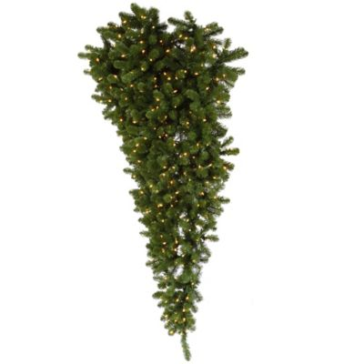 Vickerman 6-Foot American Upside Down Pre-Lit Half Christmas Tree with Clear Lights