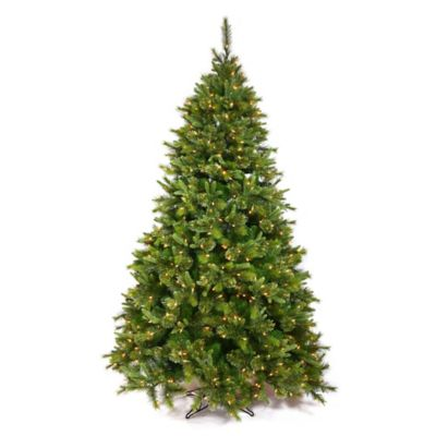 Vickerman 7.5-Foot Cashmere Pine Pre-Lit Slim Christmas Tree with Warm White LED Lights