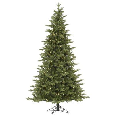 Vickerman 7.5-Foot Fresh Balsam Fir Pre-Lit Christmas Tree with Warm White LED Lights