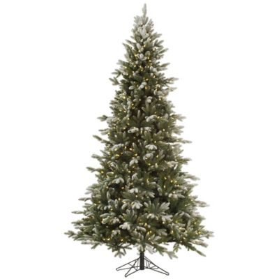 Vickerman 7.5-Foot Frosted Balsam Fir Pre-Lit Christmas Tree with Warm White LED Lights