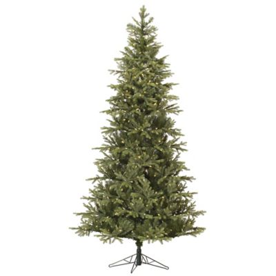 Vickerman 7.5-Foot Slim Elk Frasier Fir Pre-Lit Christmas Tree with Warm White LED Lights