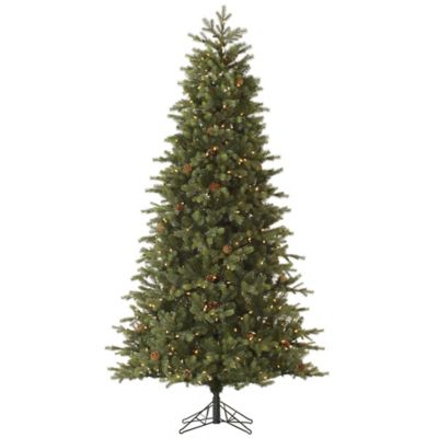 Vickerman 7.5-Foot Slim Rocky Mountain Fir Dura-Lit Pre-Lit Christmas Tree with Clear Lights