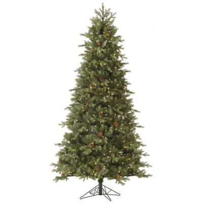 Vickerman 7.5-Foot Slim Rocky Mountain Fir Pre-Lit Christmas Tree with Warm White LED Lights