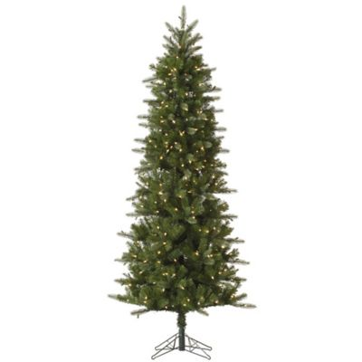 Vickerman 6.5-Foot Carolina Pencil Spruce Dura-Lit Pre-Lit Christmas Tree with Clear Lights