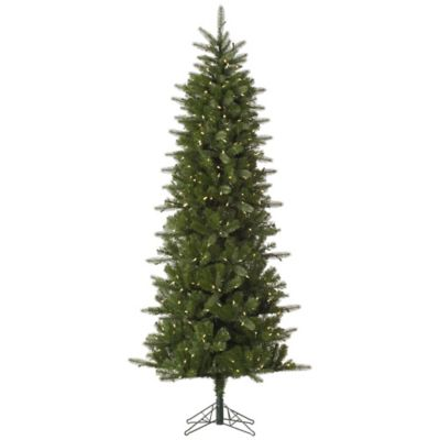 Vickerman 6.5-Foot Carolina Pencil Spruce Pre-Lit Christmas Tree with Warm White LED Lights