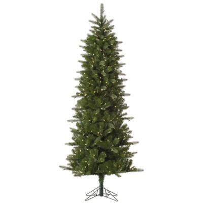 Vickerman 7.5-Foot Carolina Pencil Spruce Pre-Lit Christmas Tree with Warm White LED Lights
