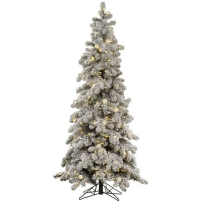 Vickerman 6-Foot Flocked Kodiak Pre-Lit Christmas Tree with Warm White LED Lights