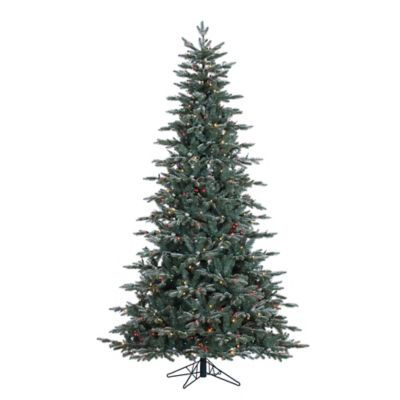 Vickerman 7.5-Foot Crystal Frost Balsam Fir Lit Christmas Tree with Silver Balls and Multi Lights