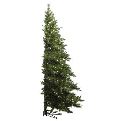 Vickerman 6-5-Foot Westbrook Pine Pre-Lit Half Christmas Tree with Clear Lights