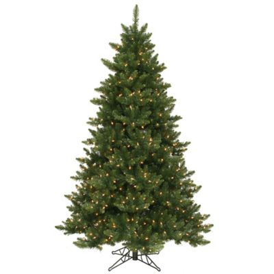 Vickerman 6.5-Foot Camdon Fir Dura-Lit Pre-Lit Christmas Tree with Clear Lights