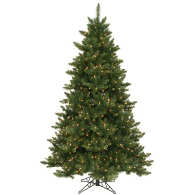 Vickerman 6.5-Foot Camdon Fir Pre-Lit Christmas Tree with Warm White LED Lights