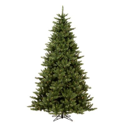 Vickerman 7.5-Foot Camdon Fir Pre-Lit Christmas Tree with Warm White LED Lights