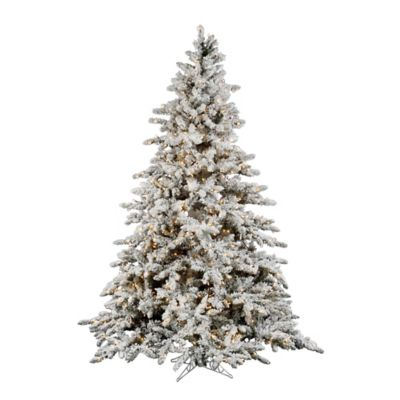 Vickerman 6.5-Foot Flocked Utica Fir Dura-Lit Pre-Lit Christmas Tree with Clear Lights