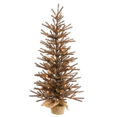 Vickerman 4-Foot Chocolate Pre-Lit Christmas Tree with Clear Lights