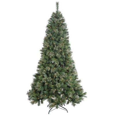 Vickerman 7.5-Foot Butte Mixed Pine Pre-Lit Christmas Tree with Clear Lights