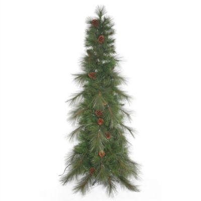Vickerman 7.5-Foot Cascade Pine Slim Christmas Tree with Pinecones