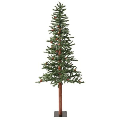 Vickerman 7-Foot Frosted Alpine Berry Pre-Lit Christmas Tree with Warm White LED Lights