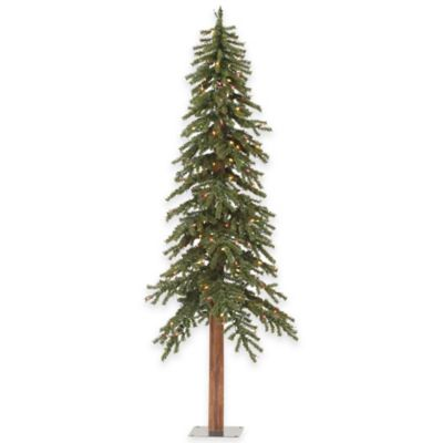 Vickerman 8-Foot Alpine Pre-Lit Christmas Tree with Multicolor Mini Lights