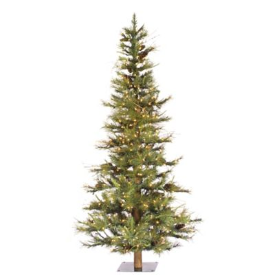 4 Pre Lighted Christmas Trees