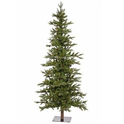 Vickerman 6-Foot Shawnee Fir Alpine Dura-Lit Pre-Lit Christmas Tree with Clear Lights