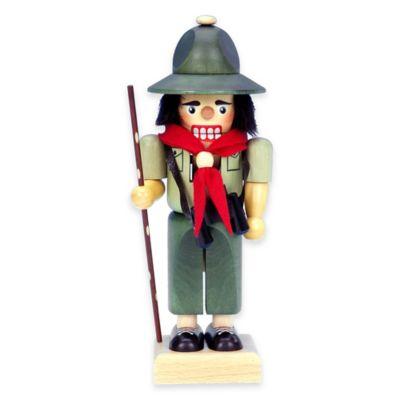 Christian Ulbricht 10-Inch Boy Scout Nutcracker Figurine in Green
