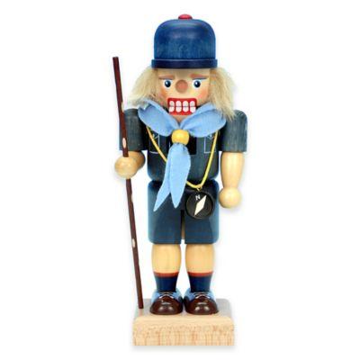 Christian Ulbricht 9-Inch Cub Scout Nutcracker Figurine in Blue