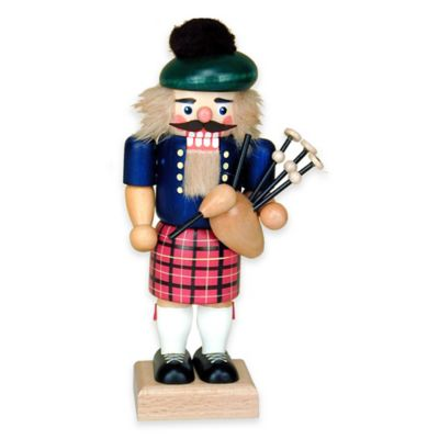 Christian Ulbricht 9.5-Inch Scotsman with Bagpipes Nutcracker Figurine