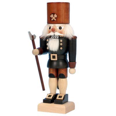 Christian Ulbricht 10.25-Inch Miner Nutcracker Figurine in Black/Natural