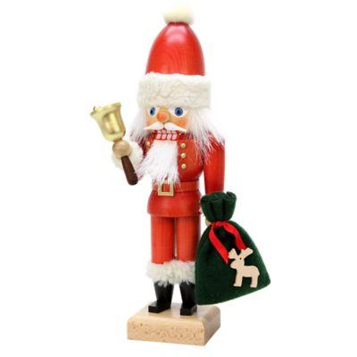 Christian Ulbricht 12-Inch Santa with Bell Nutcracker Figurine