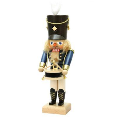 Christian Ulbricht 11-Inch Drummer Nutcracker Figurine in Blue/Multi