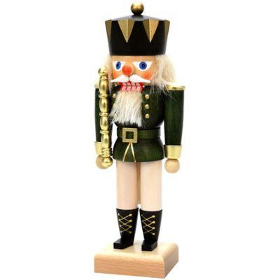 Christian Ulbricht 10.5-Inch King Nutcracker Figurine in Green/Multi