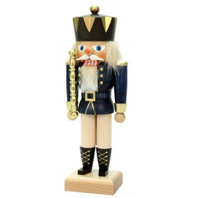 Christian Ulbricht 10.5-Inch King Nutcracker Figurine in Blue/Multi