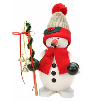 Christian Ulbricht 9.5-Inch Snowman with Santa Hat Incense Burner