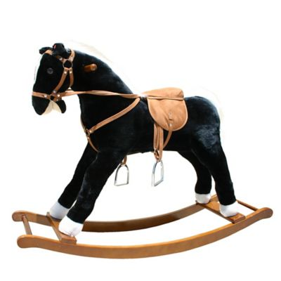 Rocking Horse in Black with Sound Effects