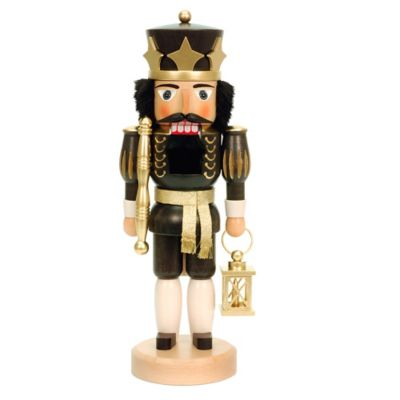 Christian Ulbricht 15-Inch King Nutcracker Figurine in Black/Gold
