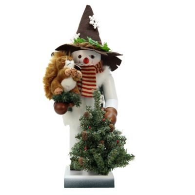 Christian Ulbricht 19.5-Inch Snowman with Squirrel Limited-Edition Nutcracker Figurine