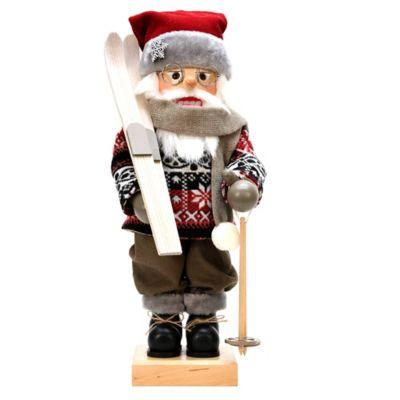Christian Ulbricht 18-Inch Skier Santa Limited-Edition Nutcracker Figurine