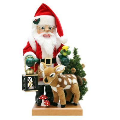 Christian Ulbricht 18-Inch Santa and Bambi Limited-Edition Nutcracker Figurine