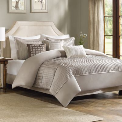 Madison Park Trinity Full/Queen Duvet Cover Set in Taupe