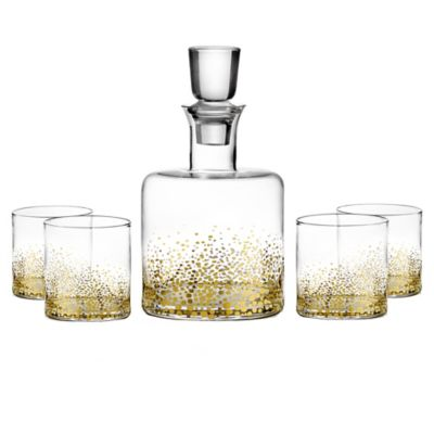 Luster 5-Piece Whiskey Set in Gold
