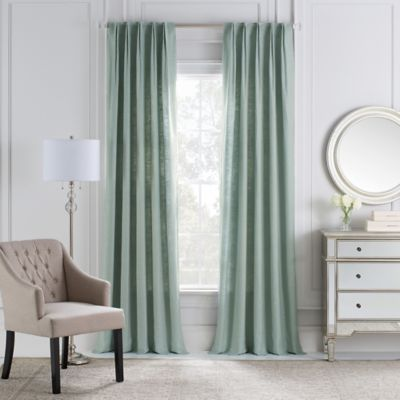 Cambria® Malta Euro Pleat 84-Inch Back Tab Window Curtain Panel in Seaside