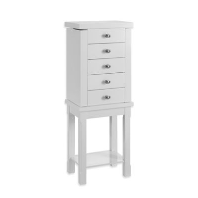 Linon Home Julia Jewelry Armoire in White