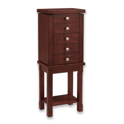 Linon Home Julia Jewelry Armoire in Walnut