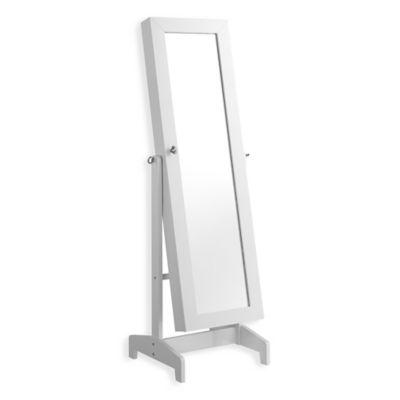 Linon Home Julia Cheval Storage Mirror in White