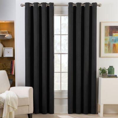 Herald Square 63-Inch Grommet Top Room Darkening Window Curtain Panel in Black