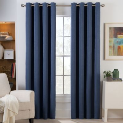 Herald Square 95-Inch Grommet Top Room Darkening Window Curtain Panel in Black