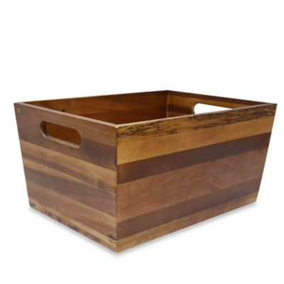Flare Acacia Medium Storage Bin